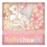 Pink Floral Fairy Mother and Infant Baby Shower Invites