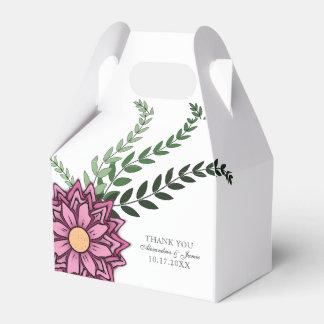 Pink Floral Favor Box