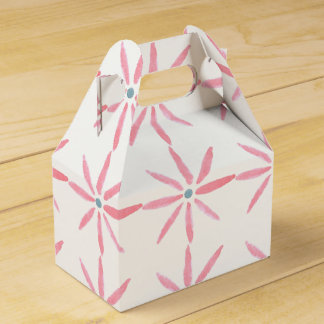 Pink floral favour/gift box