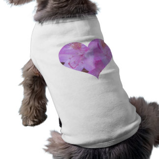 Pink Floral Heart Dog Tee