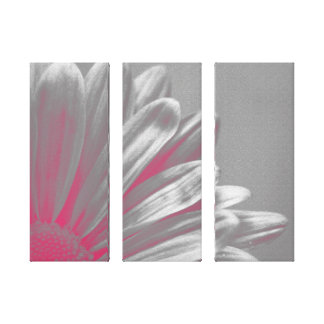Pink Floral Highlights Wrapped Canvas Print