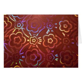 Pink Floral Hologram Greeting Card