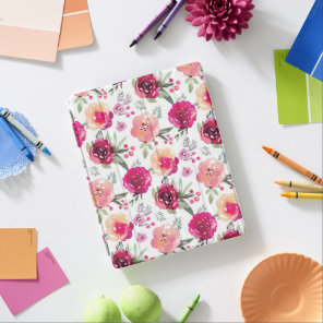 Pink Floral iPad Smart Case Cover