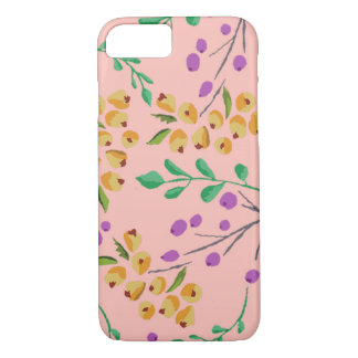 Pink Floral iPhone 7 Barely There Phone Case