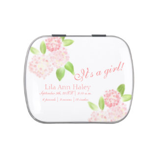 "Pink Floral ""It's a Girl"" Candy Tin"