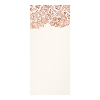 Pink Floral Lace With Roses Rack Card Design
