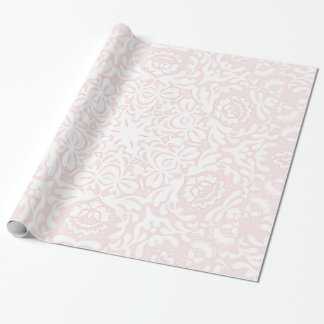 Pink Floral Lace Wrapping Paper