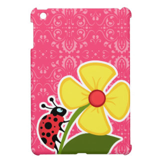 Pink Floral; Ladybug Cover For The iPad Mini