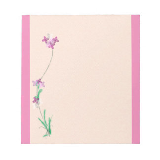 Pink floral note pad