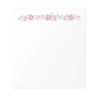 Pink Floral Notes