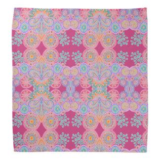 pink floral paisley bandana