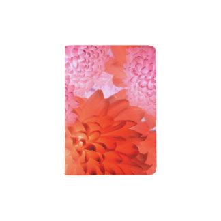 Pink floral passport holder