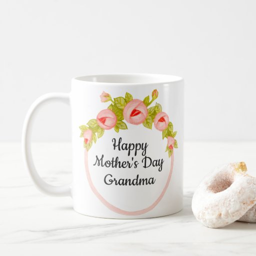 Pink Floral Patient Grandmother Mother's Day Coffee Mug