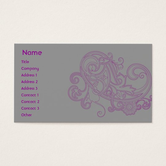 Pink Floral Pattern - Business Business Card