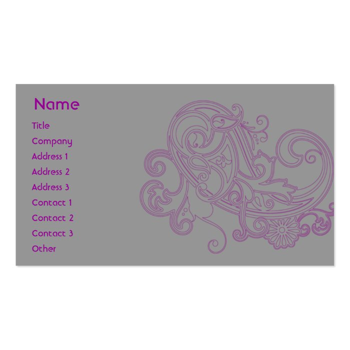 Pink Floral Pattern - Business Pack Of Standard Business Cards