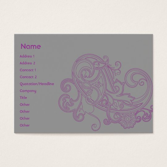 Pink Floral Pattern - Chubby Business Card