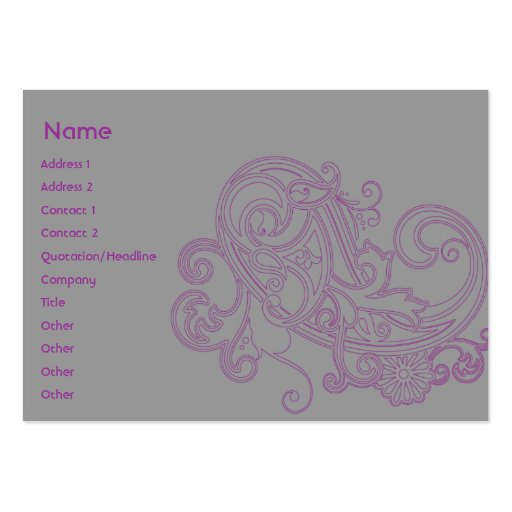 Pink Floral Pattern - Chubby Pack Of Chubby Business Cards