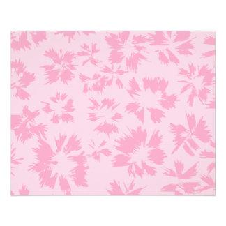 Pink floral pattern. 11.5 cm x 14 cm flyer