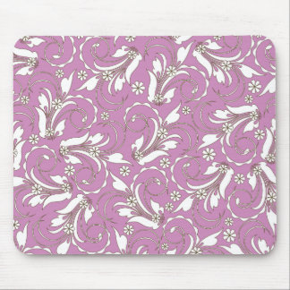 pink floral pattern mouse pads