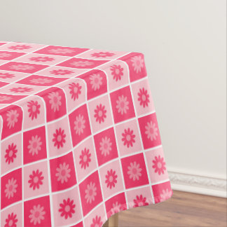 Pink Floral Pattern Tablecloth
