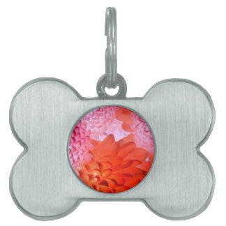 Pink floral pet ID tags