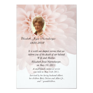 Death Announcement Cards & Invitations | Zazzle.co.uk