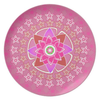 Pink Floral Plates