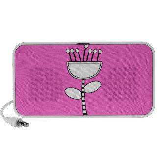 Pink Floral Portable OrigAudio Doodle Speaker