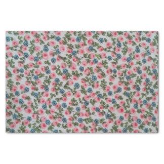 Pink Floral Print Tissue Paper