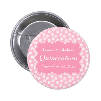 Pink Floral Quinceanera Pins