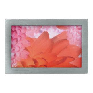 Pink floral rectangular belt buckles