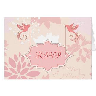 Pink Floral RSVP Note Cards