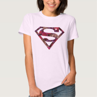 Pink Floral S-Shield T-shirts