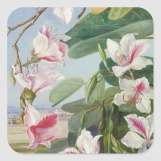 Pink Floral Spring Party Shower Peace Love Destiny Square Sticker
