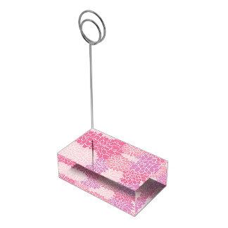 Pink Floral Table Card Holder