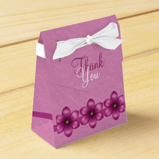 Pink Floral Thank You Favour Box
