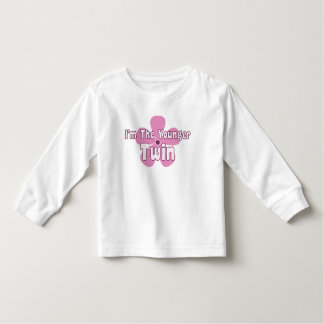 Pink Floral Twin Toddler T-Shirt