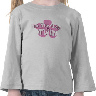 Pink Floral Twin Tee Shirts
