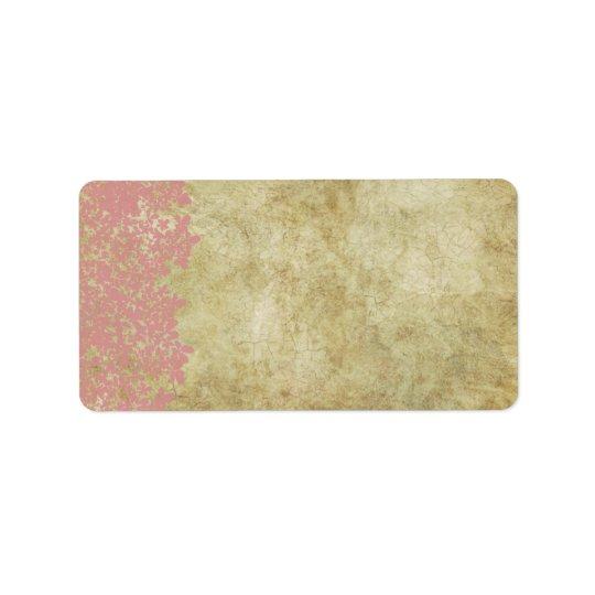 Pink Floral Vintage Wedding Address Label