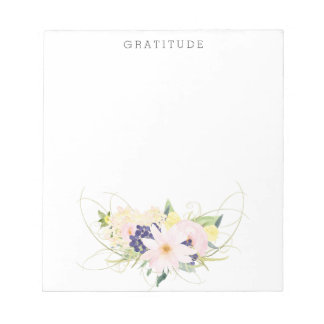 Pink Floral Watercolor Gratitude Notepads