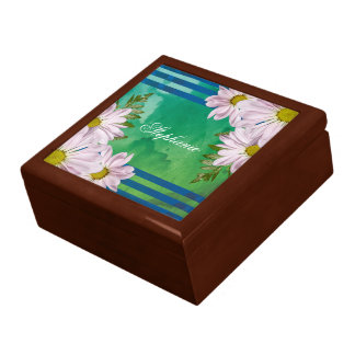 Pink Floral Watercolor Wash Personalized Gift Box