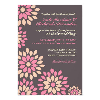 Pink Floral Wedding Invitation for Spring Wedding