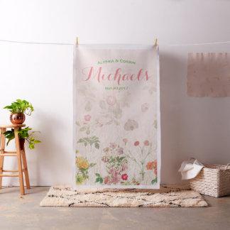 Pink Floral Wedding Reception Backdrop Decor