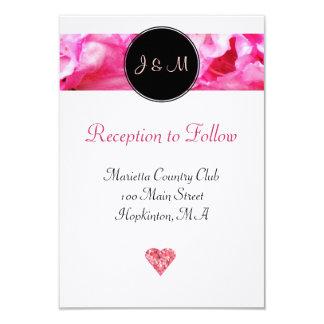 Pink Floral Wedding Reception Card 9 Cm X 13 Cm Invitation Card