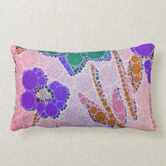 Pink Flower Abstract Pattern Throw Cushion