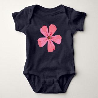 Pink Flower baby body suit. Baby Bodysuit