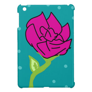 pink flower blue background cover for the iPad mini