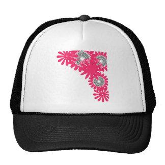 Pink flower boarder cap