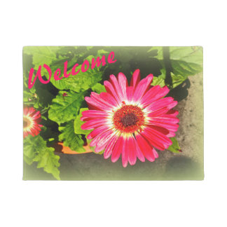 Pink Flower Bok Tower Gardens Lake Wales Florida Doormat