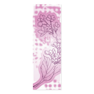 Pink Flower Bookmark Pack Of Skinny Business Cards
